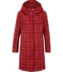 giacca lunga bouclé (rosso) - john baner jeanswear