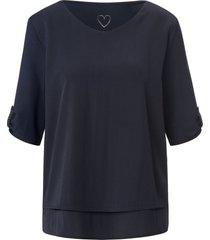 shirt v-hals van betty barclay blauw