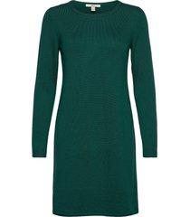dresses flat knitted kort klänning grön edc by esprit