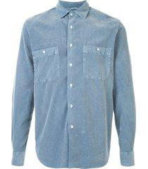 aspesi longsleeved corduroy cotton shirt - blue