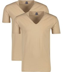 alan red invisible t-shirt beige 2-pack
