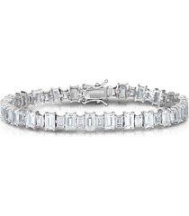 sterling silver & crystal tennis bracelet