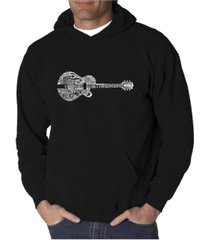 la pop art men's word art hooded sweatshirt - country guitar