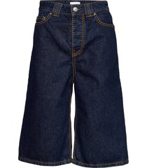 heavy stitch denim shorts denim shorts blå ganni