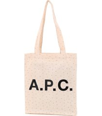 a.p.c. lou tote with logo