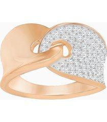 anello guardian, bianco, placcato oro rosa