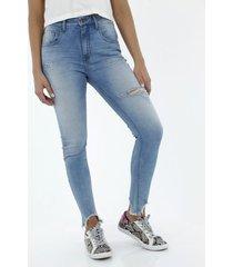 jean para mujer topmark, silueta moda plano y cintura con pretina