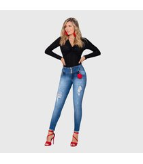 jeans colombiano control abdomen azul bartolomeo