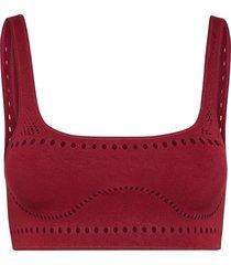 stella wear crop bikinitop röd stella mccartney lingerie