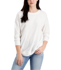 style & co solid-color sweatshirt, created for macy's