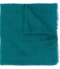 faliero sarti tine metallic-thread scarf - blue