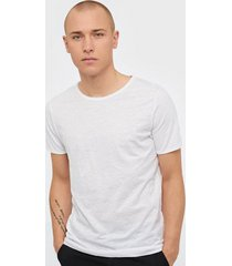 selected homme slhmorgan ss o-neck tee w noos t-shirts & linnen vit