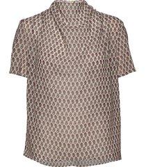 volona p blouses short-sleeved bruin tiger of sweden
