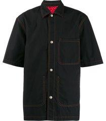 marni reversible bowling shirt - black