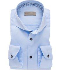 john miller blauw overhemd tailored fit blauw