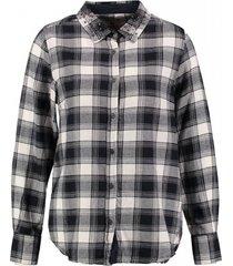 garcia zachte flannel blouse dark navy