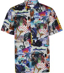 paul smith casual fit printed shirt