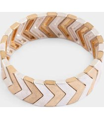 karri mixed plating chevron stretch bracelet - mixed plating