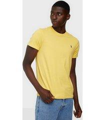 polo ralph lauren polo short sleeve t-shirt t-shirts & linnen yellow