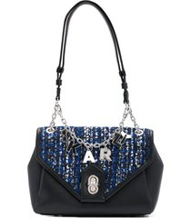 karl lagerfeld k/studio tweed shoulder bag - black