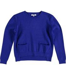 morgan korte stevige blauwe trui