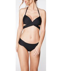 calzedonia indonesia push up criss-cross straps bikini top woman black size 1
