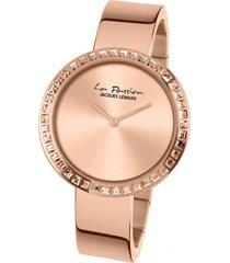 reloj casual rosa jacques lemans