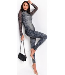 akira risky business long sleeve jumpsuit