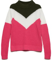 chevron color block sweater pullover roze tommy hilfiger