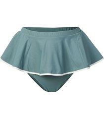 marysia pleated bikini bottoms - blue