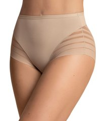 women's lace stripe undetectable panty