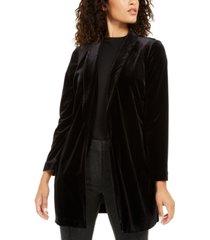 alfani petite velvet long jacket, created for macy's