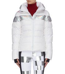 'hiver' holographic stripe down ski jacket