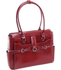 mcklein willow springs leather laptop briefcase
