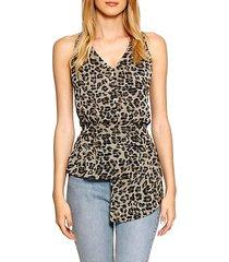 blondie leopard blouson top