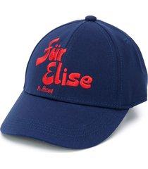mini rodini für elise embroidered cap - blue