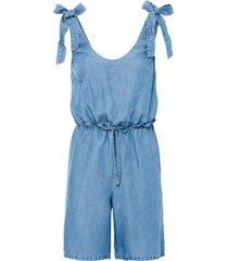 tuta di jeans in  tencel™ lyocell con fiocchi (blu) - rainbow