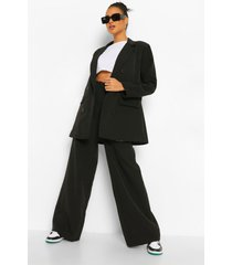 baggy wide leg broek, black