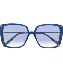 missoni eyewear oversized abstract print sunglasses - blue