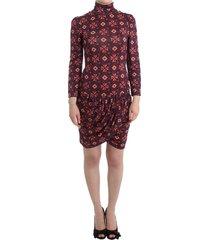 longsleeved turtleneck viscose dress