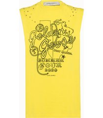 golden goose deluxe brand canotta marfa in cotone giallo