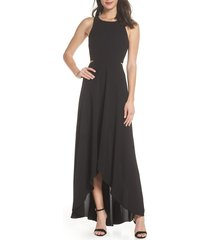 women's ali & jay cutout maxi dress, size x-large - black