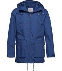 fishtail jacket parka jas blauw makia