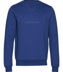amr crew sweat-shirt tröja blå hackett
