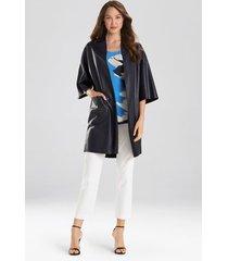 natori faux leather kimono top, women's, size s