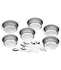 kit para sobremesa tramontina service em aço inox 12 peças 64400730