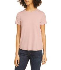 women's eileen fisher short sleeve jersey tee, size x-small - pink