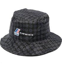 10 corso como x k-way logo-print bucket hat - black