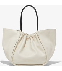 proenza schouler ruched xl tote clay/white one size