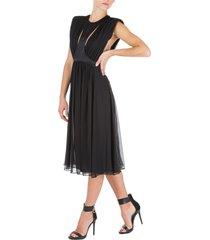 vestito abito donna lungo longuette senza maniche